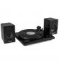 GIRADISCHI FENTON RP160B Record Player Bluetooth Set Black paradisesound strumenti musicali on line